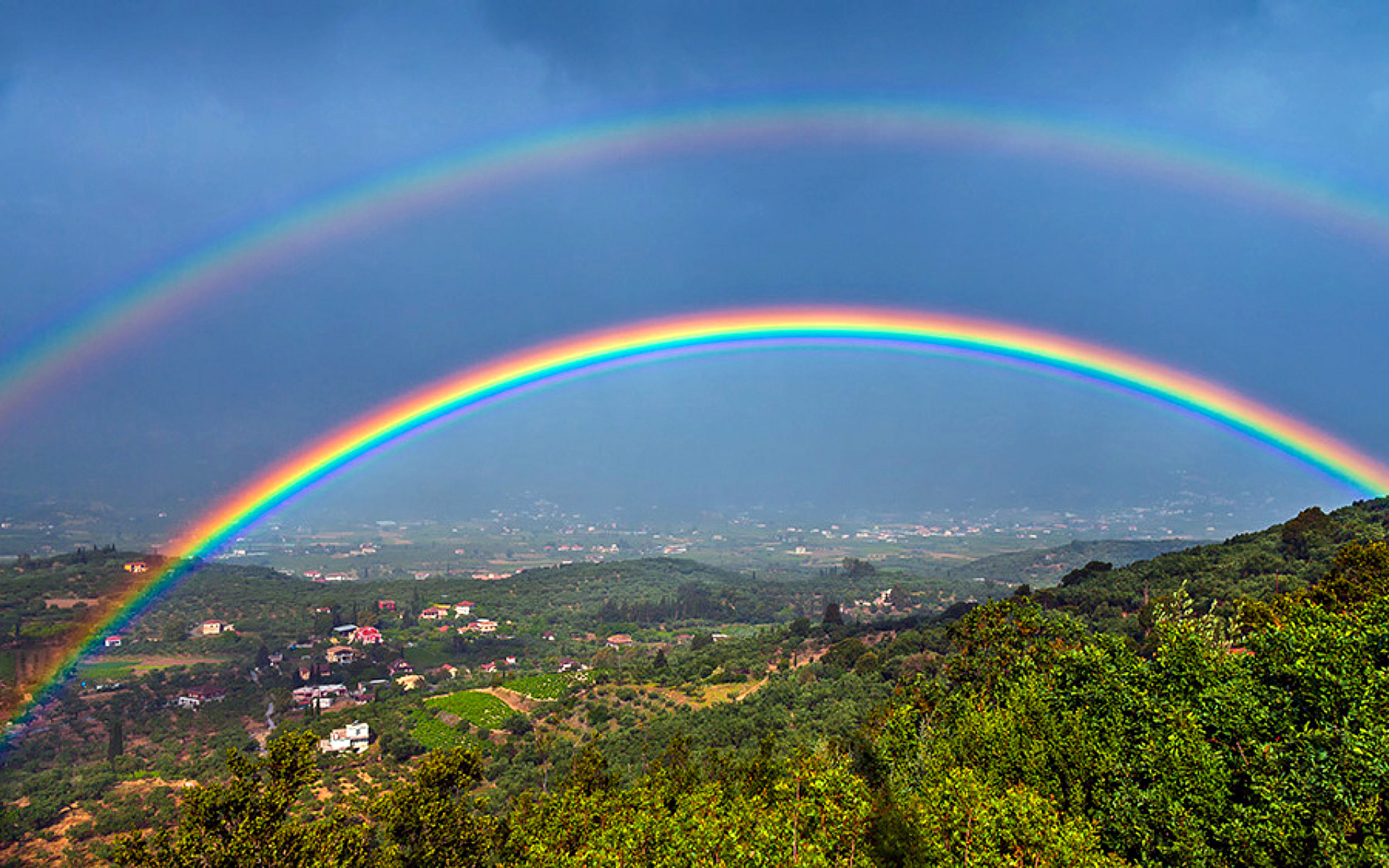 what causes a double rainbow how it works