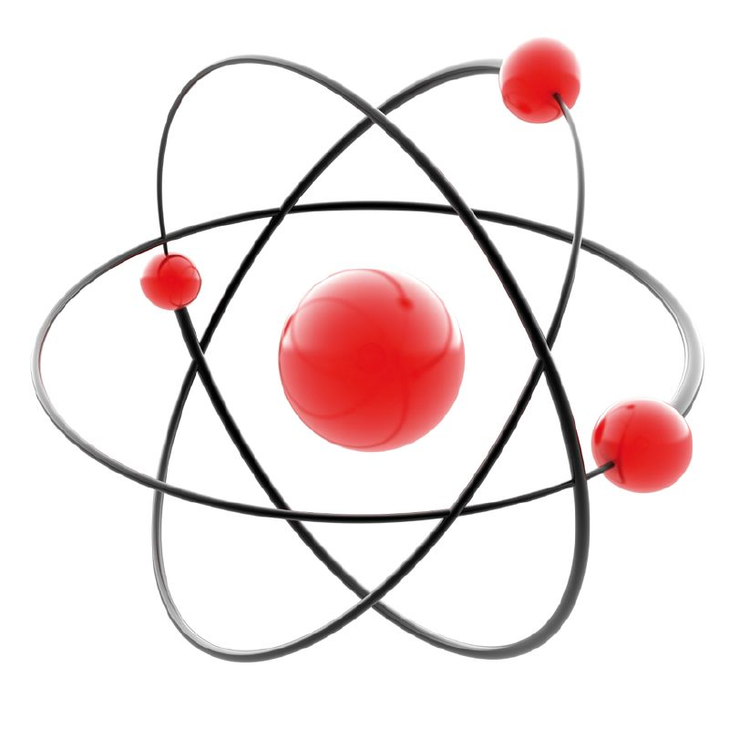 A picture of an atom